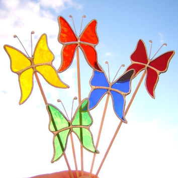 All year Butterflies for Plant Pots - Plant Decorations - Garden Stakes