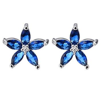 Blue Star Police Support Stud Earrings