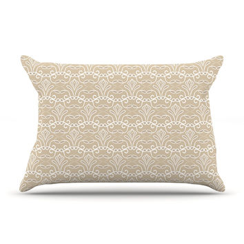 "Julia Grifol ""Soft Deco"" Brown Tan Pillow Sham"