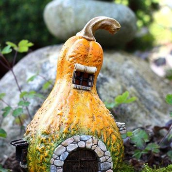 Fairy Gourd Miniature House with Light Enchanted Story 8.25H no returns attic