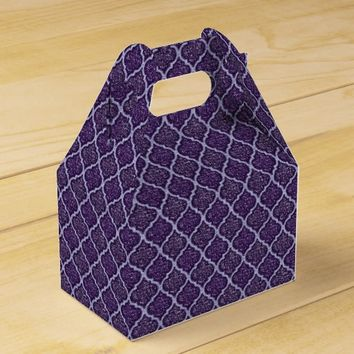 MQF-Sequins-2 Toned Purple-Gable Favor Box