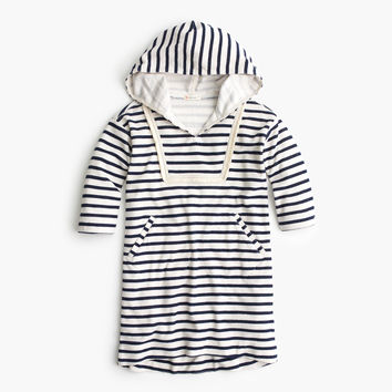 Girls' striped terry hoodie dress : Girl dresses | J.Crew