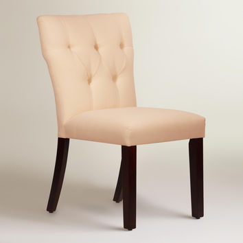 Twill Tufted Gabie Dining Chair - World Market