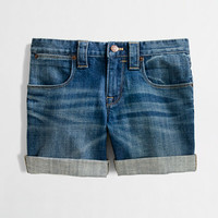 FACTORY DENIM ROLL-UP SHORT