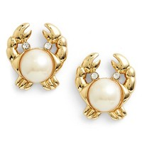 Women's kate spade new york 'shore thing' crab stud earrings