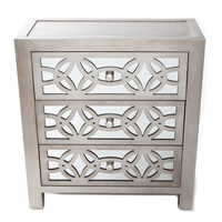 River of Goods Glam Slam 3 Drawer Mirror Chest