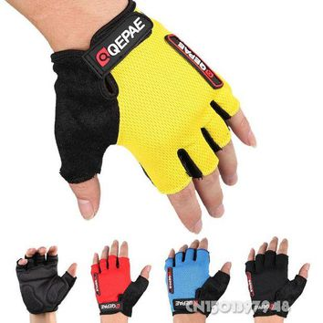 DCCK7N3 GZDL Guantes Ciclismo Breathable Outdoor Bicycle MTB BMX Road Bike Antiskid Short Half Finger Cycling Gloves Gel  MTB9006