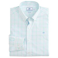Salt Clay Tattersall Sport Shirt in Ocean Channel by Southern Tide