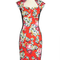 ModCloth Long Cap Sleeves Sheath Fresh Take on Fabulous Dress