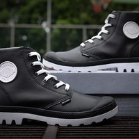 Palladium Pampa Hi Vl Boots Black/White For Women & Men