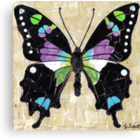 Paper Butterfly - Purple Spotted Swallowtail by Shawna Rowe