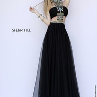 Sherri Hill 11247 Cut Out Two Piece Prom Dress