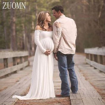 Maternity Dress Gauze Photography Props Pregnant Women Long Dress Photo Shoot Dresses Pregnant Women Photo Dress YL405