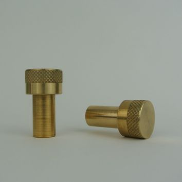 Brass Modern Diamond Edge Drawer Pull / Knob - Pair