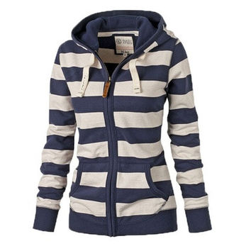 New Fashion Womens Casual Hooded Sweatshirt Pullover Hoodie Coat Outerwear Tops [8834073484]