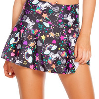 Neon Unicorn High Waisted Skirt