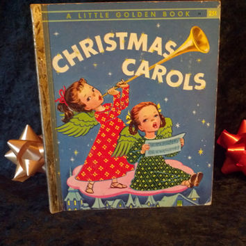 Christmas Carols Vintage Childrens Book by ALittle Golden Book  1946 1st edition