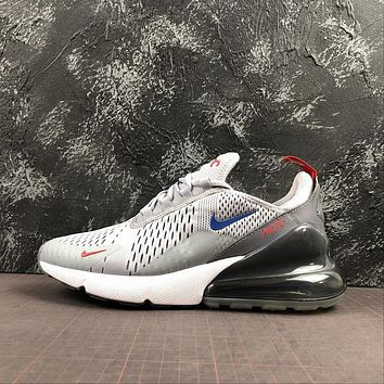 Nike Air Max 270 Mixes Wolf Grey With Game Royal And University Red
