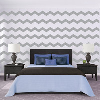 Cute Large Chevron Pattern - Wall Decal Custom Vinyl Art Stickers