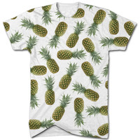 Pineapple pattern all over t shirt