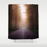 Where are you Shower Curtain by HappyMelvin