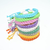 Adjustable Woven Bracelet, Tropical Colors