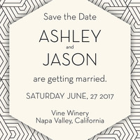 The Amelia Geometric Save the Date. Wedding Invitation. Formal Save the Date. Save the Date. Monogram Save the Date.