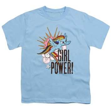 My Little Pony Kids T-Shirt Girl Power Light Blue Tee