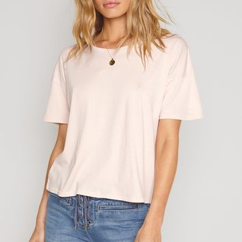 Andi Cropped Tee - Rose