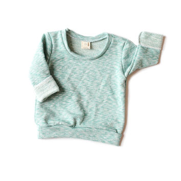 Sweats Pullover Teal Marble