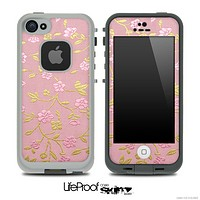 Pink Fabric Pattern Skin for the iPhone 5 or 4/4s LifeProof Case