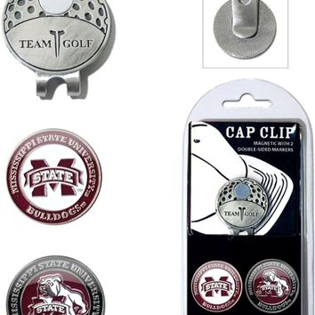 NCAA Mississippi State Bulldogs Hat Clip & 2 Magnetic Golf Ball Markers