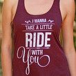 Take A Little Ride With You | Women's Cranberry Racerback Tank Top