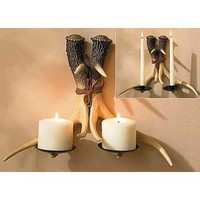 Wild Wings Antler Wall Sconce Candle Holder