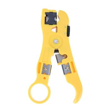 Universal Cable Wire Jacket Stripper with Cable Cutter Stripping Scissors Tool