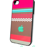 iPhone 4 iPhone 4S Case Mint Apple and Hot Chocolate Ships from USA