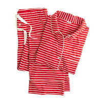 J.Crew Womens Dreamy Cotton Pajama Set In Stripe