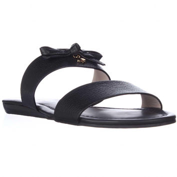 kate spade new york Tulia Flat Slide Sandals - Black