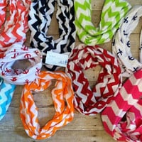 Chevron Infinity Scarfs - lots of colors avllb - Great Gift