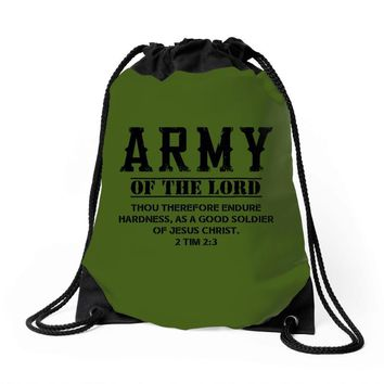 Army Of The Lord Christian T Shirts Bible Verse Drawstring Bags