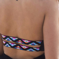 L'Space Double Trouble Tribal Strap Bikini Top