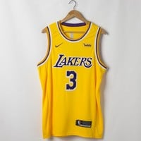 Men's Los Angeles Lakers Anthony Davis Nike Gold 2019/20 Swingman Jersey - Best Deal Online