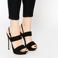 Lipsy Grace Platform Two Part Heeled Sandals