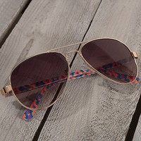 BKE Neon Aviator Sunglasses