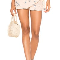 Blue Life Rosie Ruffle Wrap Short in Pink Champagne Floral | REVOLVE