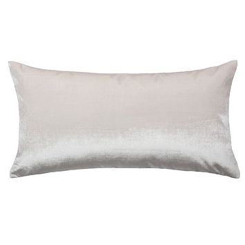 The Pearl White Velvet Throw Pillow