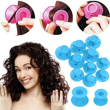 10pcs/set Soft Rubber Magic Hair Care Silicone Rollers