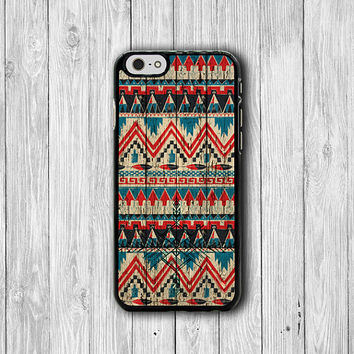 iPhone 6 Case - Color Aztec Tribal Wood Arrow Vintage Indian Phone Cases, Hipster iPhone 5, 5S, iPhone 4, 4S Cover, Personalized Custom Gift