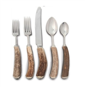 Natural Antler Handle Flatware Set