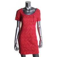 Marc by Marc Jacobs Womens Silk Trim Short Sleeves Party Dress